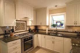 antique white kitchen cabinets with granite countertops