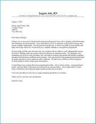 Astonishing New Graduate Nurse Cover Letter To Design