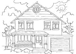 Coloring Pages Houses Haunted Houses Coloring Sheets House Drawing