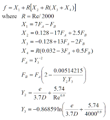 Moody Friction Factor Calculator From Innovyze H2ocalc