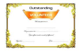 Volunteer Certificate Outstanding Volunteer Certificate Template 7 Of The Month Award