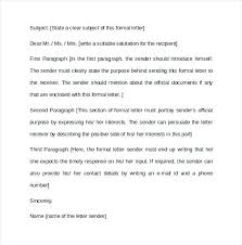 Formal Letter Format Sample Example Resume Letter For Application Examples Of Resumes Simple ...