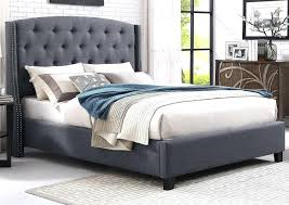 grey upholstered queen platform mark gray bed decorating ideas