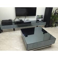 tv console with matching coffee table