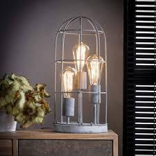 Industriële Tafellamp De Industriële Tafellamp Prison 3lichts Metaal