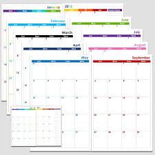Free 2 Page Monthly Calendar Template Printable Blank