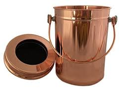 *ROSE GOLD* <b>Stainless Steel</b> Compost Pail - Uncle Jim's <b>Worm</b> Farm