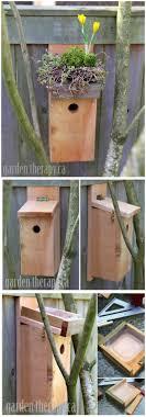green roof birdhouse tutorial diy backyard ideas and easy diy backyard ideas projects crafts