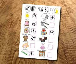 Adhd Morning Routine Chart Kids Routine Chart Girls Morning Routine Chart Ready For School Childrens Daily Routine Kids Planner Laminated With Stickers Dry Wipe