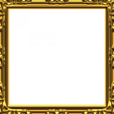 black and gold frame png. Perfect Png Baroque Golden Frame For Black And Gold Png R