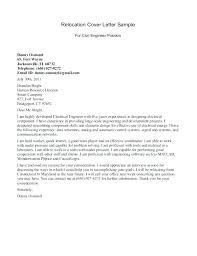 Cover Letter Example Relocation Basic Resume Cover Letter Basic Resume Cover Letter Examples