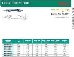 Center Drill Chart 4 Center Drill Realgf Co