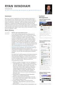Media Specialist/Webmaster Resume samples