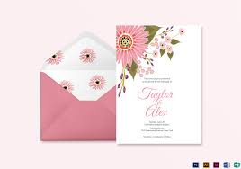 Weding Card Designs Floral Wedding Invitation Card Template