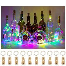 Amazon Cork Bottle Lights Aluan Wine Bottle Lights With Cork 15led 10 Pack Bottle Lights Battery Powered Wine Cork Lights String Lights For Party Wedding Christmas Festival
