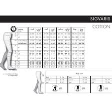 Sigvaris Measurement Chart Sigvaris Cotton 23 32 Mmhg Class 2 Ad Below Knee Normal Open Toe With Soft Top Medical Compression Stockings