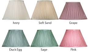 box pleat faux silk small clip on lamp shade choice 6 colours