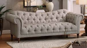 Tufted Fabric Sofa 42 with Tufted Fabric Sofa