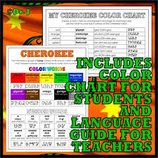 Cherokee Color Chart Native Americans Our Colorful World In Cherokee