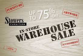 In Store Warehouse Sale Stowers Furniture