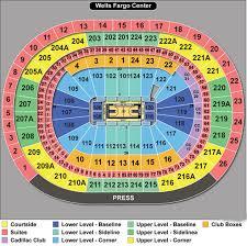 wells fargo center seating chart