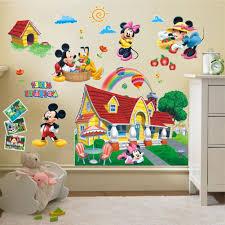 mickey mouse clubhouse wall art regarding pop d mickey mouse clubhouse wall stickers kids bedroom decor