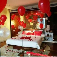 how to decorate bedroom for first night