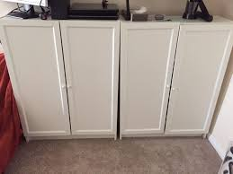 3x ikea billy bookcase white with doors stickers removable