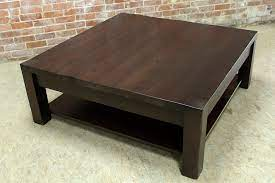 large dark wood coffee table collection