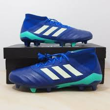 details about adidas predator 18 1 fg leather men size 10 5 soccer cleat blue kangaroo leather