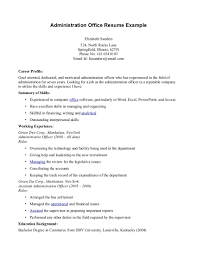 Administration And Office Manager Resume Example Displaying