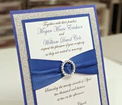 stunning diy royal blue & silver glitter wedding by invitebling White And Blue Wedding Invitations glitter wedding invitations royal blue and white wedding invitations
