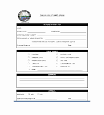 Paid Time Off Form Template Time Off Request Form Template Awesome Pto Policy Template Paid Time