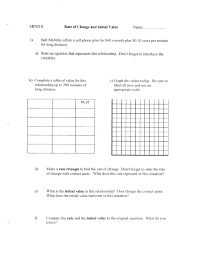 very best constant rate of change worksheet 7th grade fg65