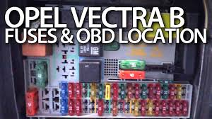 where are fuses and obd port in opel vectra b (vauxhall relays on vauxhall zafira fuse box diagram 2000 where are fuses and obd port in opel vectra b (vauxhall relays on board diagnostic interface) youtube