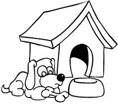 Small Picture Dog House Coloring Page Coloring Home