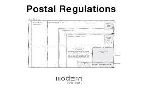 Postcard Formats Direct Mail Postal Regulations Modern Postcard