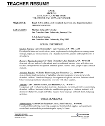 Exelent Sample Resume For Preschool Teacher Aide Component