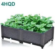 large flower boxes brown planting box family balcony vegetable pot large plastic flower pot one meter