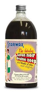 Bruine zeep gebruik