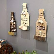 We are one of the trusted names in the market to offer a highly durable range of fiber wall decor. Buy White New Creative Fashion Vintage Creative Beer Wood Opener Bottle Wall Hanging Bar And Restaurant The Coffee Shop Wall Decoration Features Price Reviews Online In India Justdial
