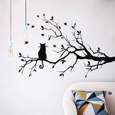 cat silhouette wall sticker