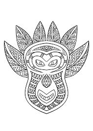 Masque Africain 6 Afrique Coloriages Difficiles Pour Adultes