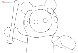Get your favorite roblox color codes or brick color codes here. Piggy Roblox Coloring Pages New Images Free Printable