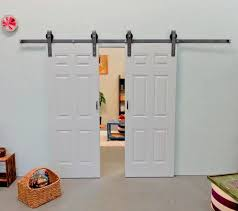 can you think of something more satisfying than giving people a tour of your home and coming up to a set of dual sliding barn doors and sliding them open to