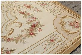 shabby chic floor rugs new 8 x10 shabby french chic aubusson area rug country home