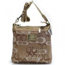 Coach Legacy Swingpack In Signature Large Khaki Crossbody Bags AVK