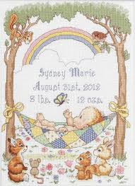 Bucilla To Dmc Conversion Chart Our Little Blessing Birth Record Cross Stitch Kit