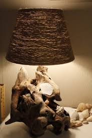 beach inspired lighting. Driftwood Lamp With Jute Shade (via Beachykeenliving) Beach Inspired Lighting R