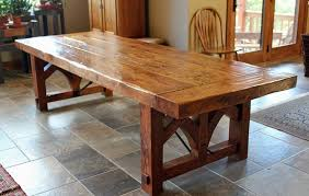 distressed wood dining table ideas